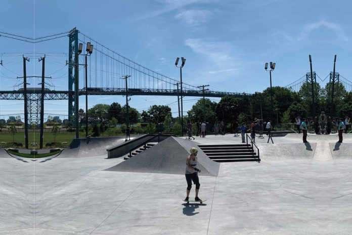 Riverside skate park