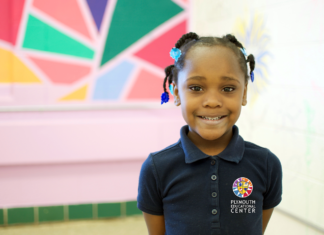Student at Plymouth Educational Center in Detroit