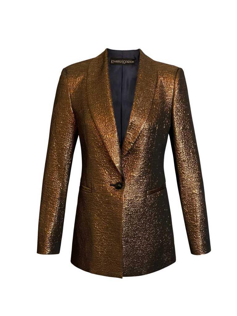 Kimberly Goldson boyfriend jacket