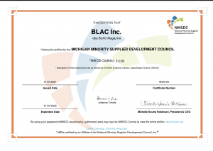 BLAC Minority Certification