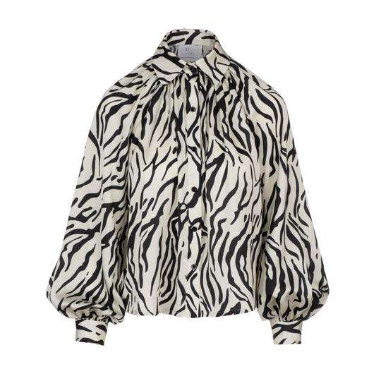 Undra Celeste billow sleeve blouse zebra